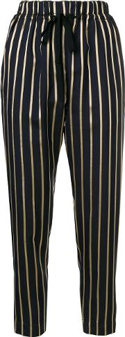 Viscose Striped Trousers