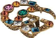 Multifinger Ring With Multicolor Gg Stones