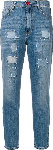 Distressed Side Banded Jeans