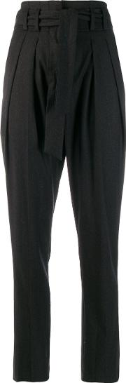Blend Wool High Waist Trousers