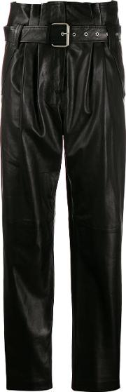 Leather High Waits Trousers