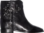 Cluster Leather Boots