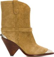 Lamsy Leather Ankle Boots