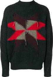 Wool Crew Neck Sweater With Star