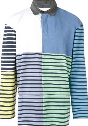 Striped Patchwork Rugby Polo