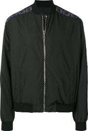 Classic Sleeves Bomber With Logo Print