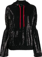 Hoodie Sweatshirt With Paillettes