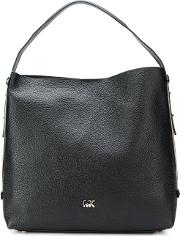 Griffin Leather Hobo Bag