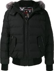 Black Padded Parka Coat