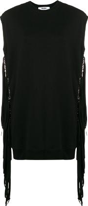 Crewneck Top With Fringes