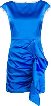 Draped Satin Dress