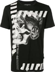 Skull Print Cotton T Shirt