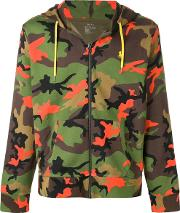 Camouflage Printed Hooded Sweatshirt