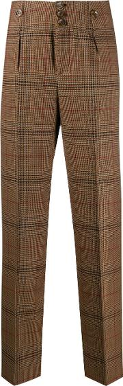 Wool Blend Slim Trousers