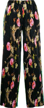 Mix Floral Pleated Trousers