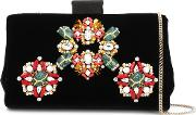 Jewels Embroidered Soft Clutch