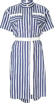 Striped Shirting Dress