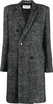 Double Breasted Coat In Wool