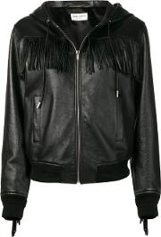 Teddy Jacket In Leather With Fringes