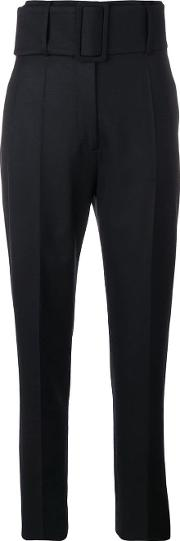 Wool Belted Trousers