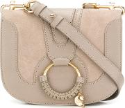 Hana Suede And Leather Crossbody Bag