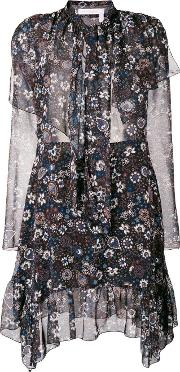 Paisley Printed Dress With A Bow
