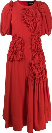 Ruched Flower Dress