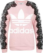 Adidas Crew Neck Jumper With Lace Details