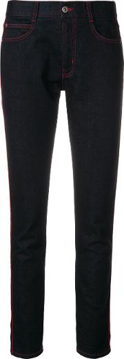 Cuffed Jeans With Contrasting Stitching
