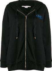 Hoodie With Logo Banded Slevees