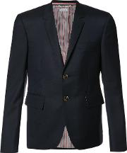 Jacket Fastening With Two Buttons And Finished With The Tri Stripe Detail To The Rea