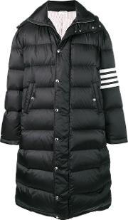 Long Down Jacket With 4 Bands