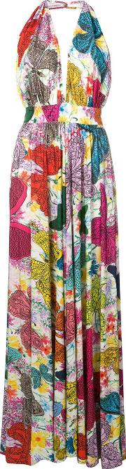 Butterfly Printed Long Dress