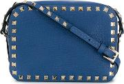 Rockstud Leather Cross Body Bag