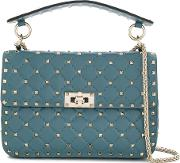 Rockstud Spike Leather Shoulder Bag