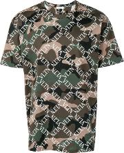 T Shirt With Camouflage Print Vltn