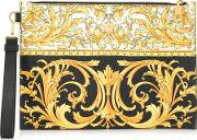 Small Clutch With Barocco Heritage Print