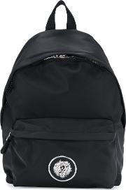 Nylon Backpack With Calf Leather Details
