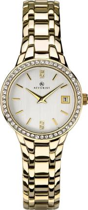 Ladies Gold Tone Bracelet Watch 8178