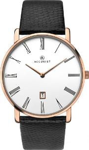 Mens Leather Strap Watch 7183