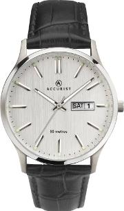 Mens Silver Day Date Watch 7233