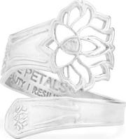Adjustable Lotus Petals Ring Pc15sr02s