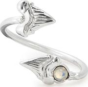 American 925 Sterling Silver Shark Tooth Ring Wrap A17rwsts