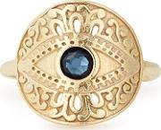Gold Plated Evil Eye Adjustable Ring Pc18ereeg