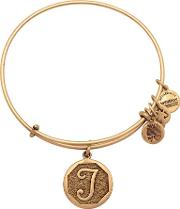 Initial 't' Charm Bangle A13eb14tg