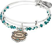 Silver Slytherin Motto Bangle Set As18hp49ttrs