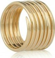 Gold Plated Labyrinth Seven Coil Ring R001ygp N