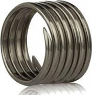 Oxidised Silver Labyrinth Seven Coil Ring R002oxi K