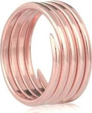 Rose Gold Plated Labyrinth Five Coil Ring R001rgp J