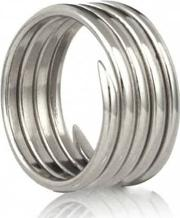 Silver Labyrinth Five Coil Ring R001sil K